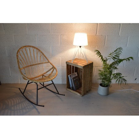 Lampe de chevet forme Hairpin Legs 50 cm blanc ou noir mat
