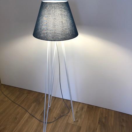 Lampadaire 140 cm forme Hairpin Legs blanc mat