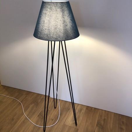 Lampadaire 140 cm forme Hairpin Legs noir mat