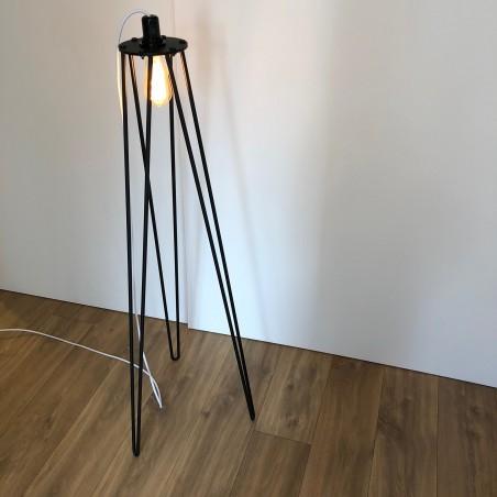 Lampadaire - pied de lampe seul (120 cm) noir